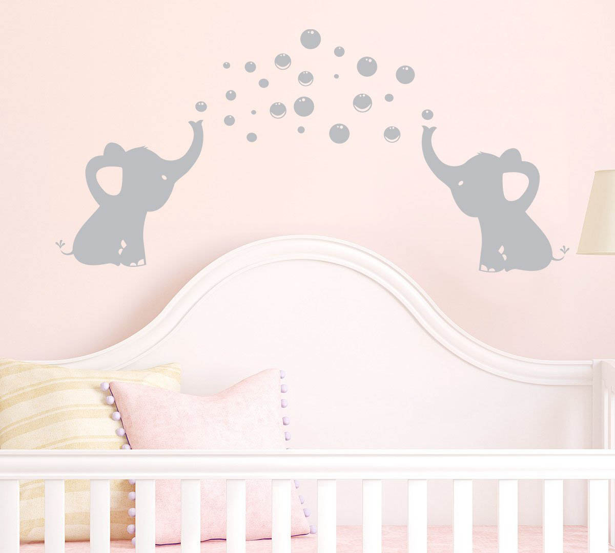 Elephants Bubbles Wall Decal Vinyl Wall Sticker Wall Art Baby Nursery Wall  Decor ...